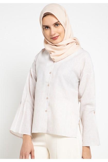 Azzar Remi Blouse In Cream Stripes
