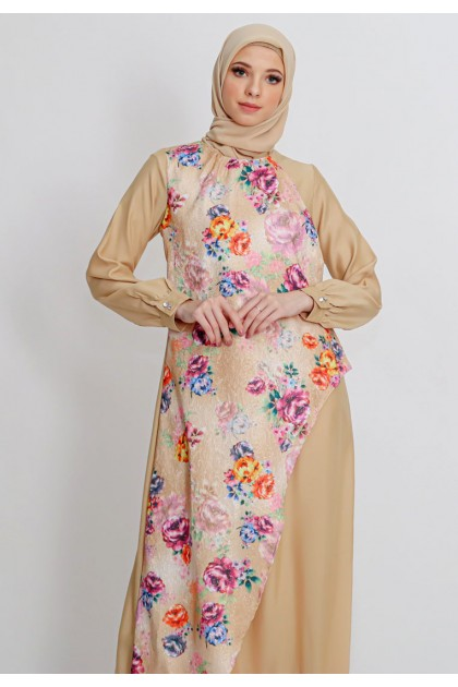 Azzar Shania Maxi Dress In Beige