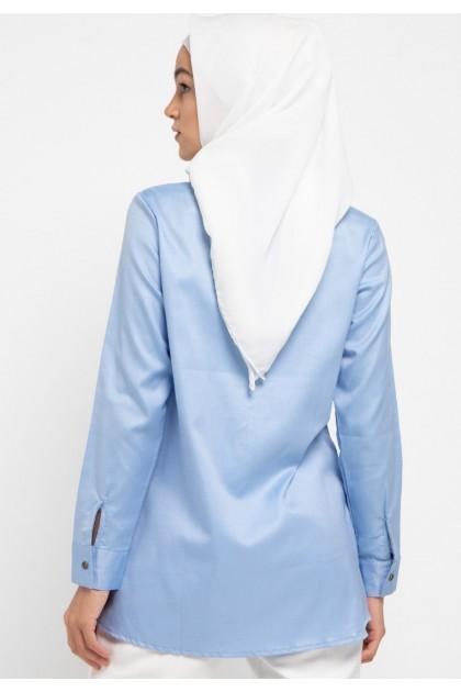 Azzar Tamia Tunic In Light Blue
