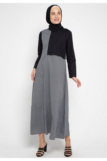 Azzar Tula Maxi Dress In Black Print
