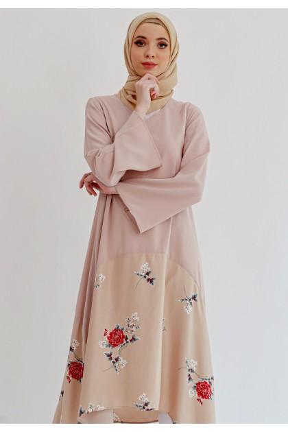 Azzar Zelena Maxi Dress in Cappuccino