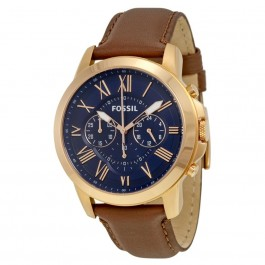 Fossil FS5068 Grant Chronograph Brown Leather Men's Watch