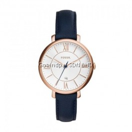 FOSSIL ES3843 Jacqueline Navy Leather Ladies Watch
