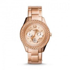 Fossil  ES3590 Stella Rose Gold-Tone Stainless Steel Bracelet Women's Watch