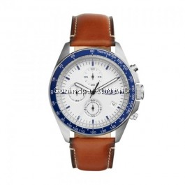 Fossil CH3029 Sport 54 Chronograph Brown Leather Men's Watch