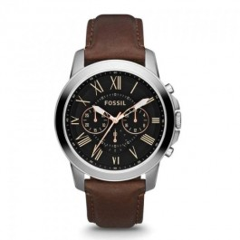 Fossil FS4813IE Grant Chronograph Brown Leather Men's Watch