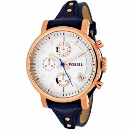 Fossil ES3838 Original Boyfriend Chronograph Navy Leather Ladies Watch