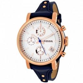 Fossil ES3838 Original Boyfriend Chronograph Navy Leather Ladies Watch