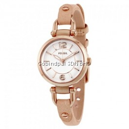 Fossil ES3745 Gold-Tone Stainless Steel with Leather Strap Women's Watch