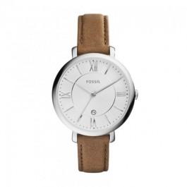Fossil ES3708 Jacqueline Brown Leather Strap Ladies Watch
