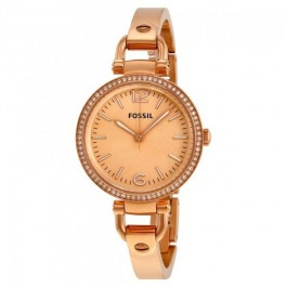 Fossil ES3226 Georgia Rose-Tone Stainless Steel Watch