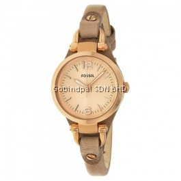 Fossil ES3262 Beige Leather Rose-Gold Dial Women's Watch