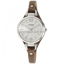 Fossil ES3060 Georgia Brown Leather Women's Watch