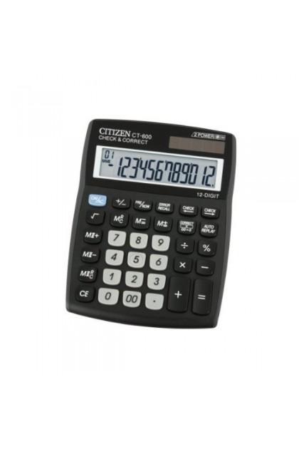 Citizen CT-600J 12 Digit Dual Power Calculator