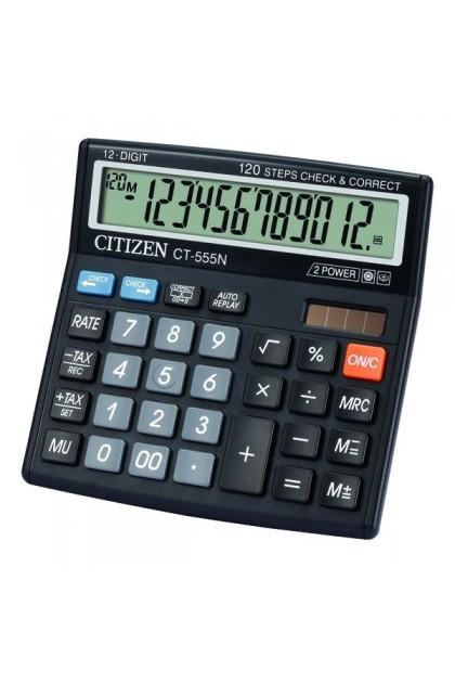 Citizen CT-555N Battery & Solar Powered Calculator