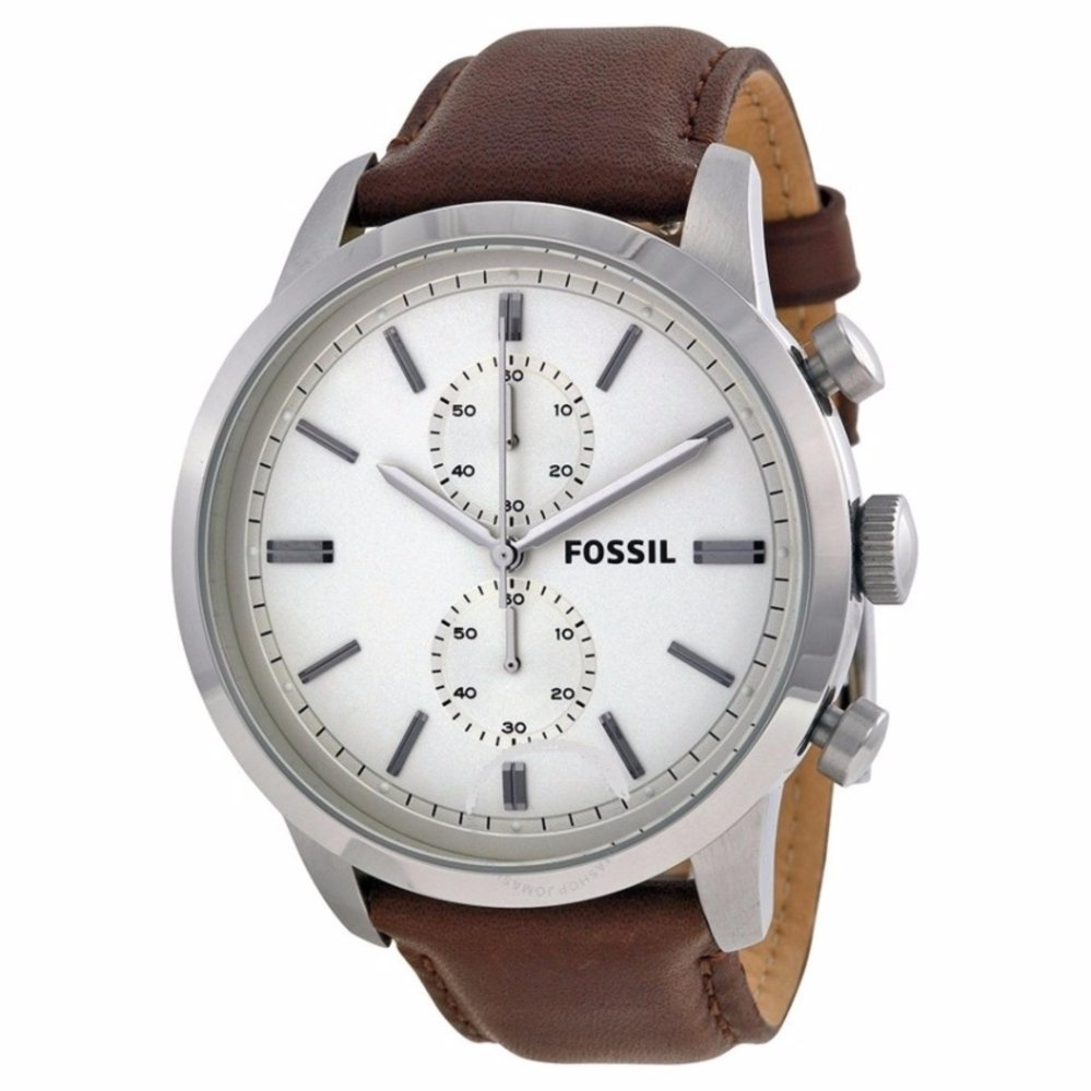 Bargains4ever All Products Fossil Fs5068 Fs4865 Townsman Chronograph Brown Leather Watch