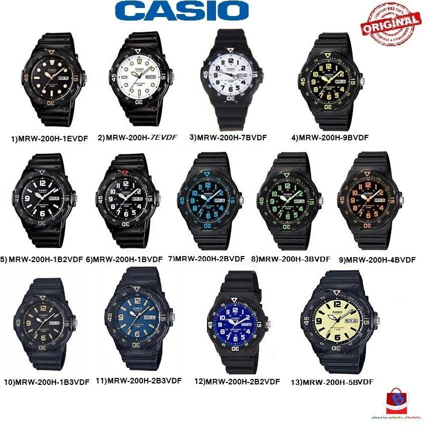 Casio MRW-200H Series Original & Genuine Watch