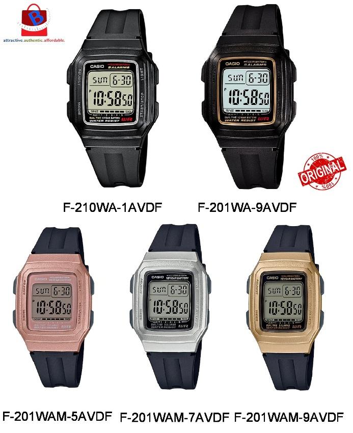 Casio F-201WA / F-201WAM Series Original & Genuine Digital Watch