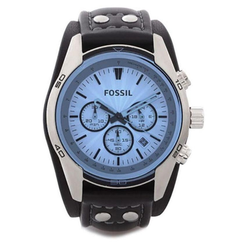 FOSSIL CH2564 Coachman Chronograph Black Leather Men's Watch