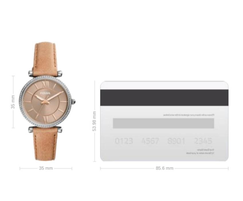 Fossil ES4343 Carlie Three-Hand Sand Leather Watch