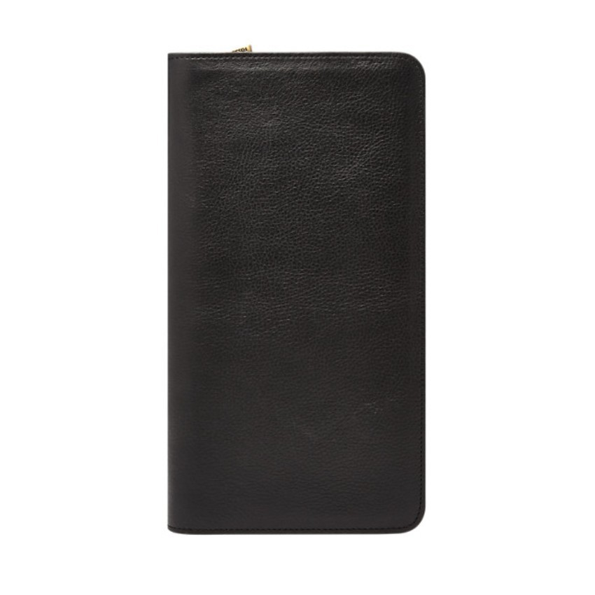 Fossil Men's Multi Zip Passport Case Black MLG0334001