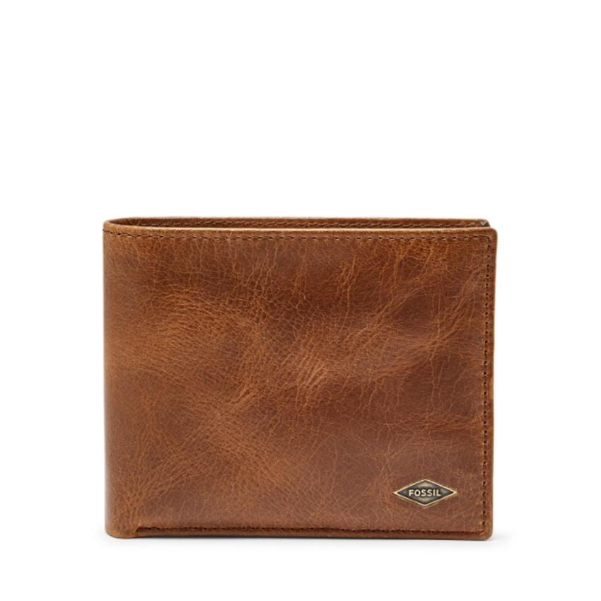 Fossil Men\'s Ryan RFID Passcase Wallet Dark Brown ML3829201