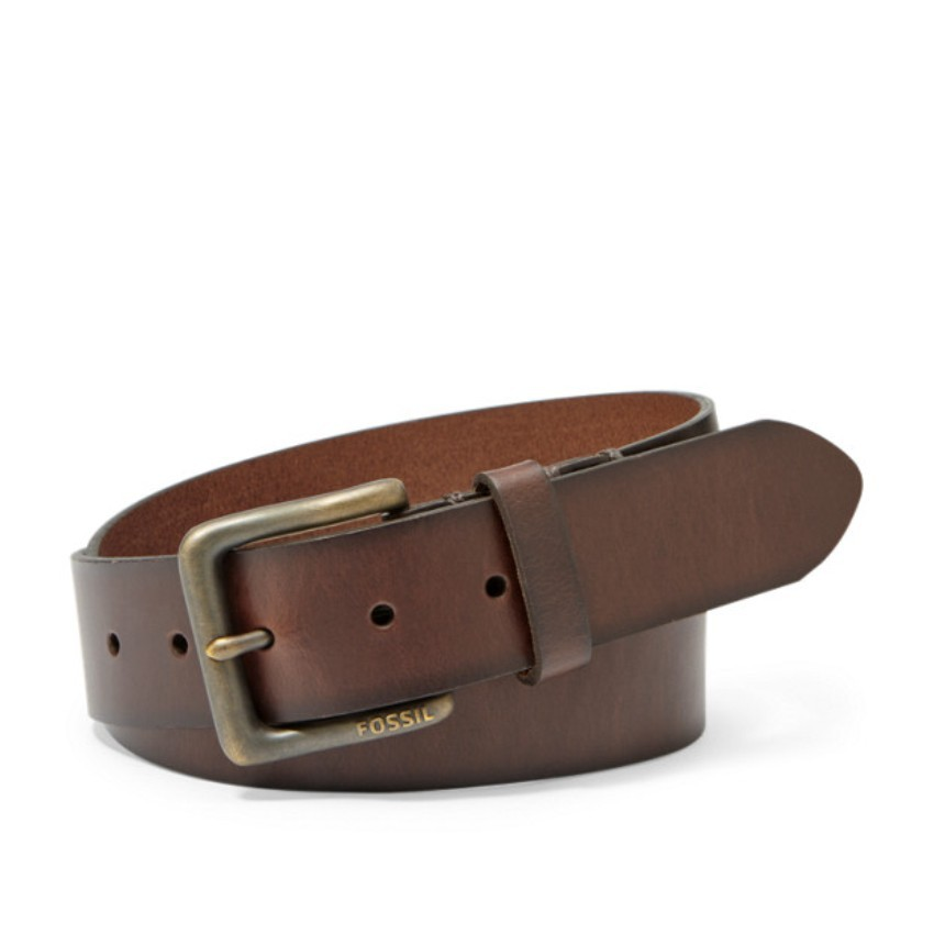 Fossil Artie Men's Leather Belt Dark Brown MB1290201