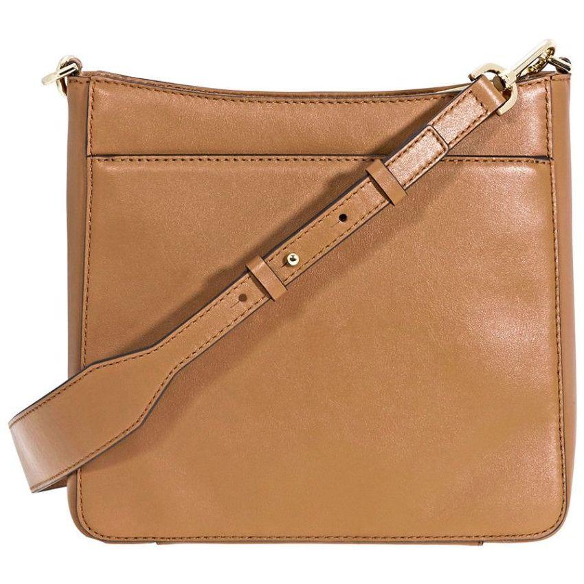 2f52521840c988 Michael Kors Gloria Leather Messenger Bag- Acorn 30F8GG0M2L-203