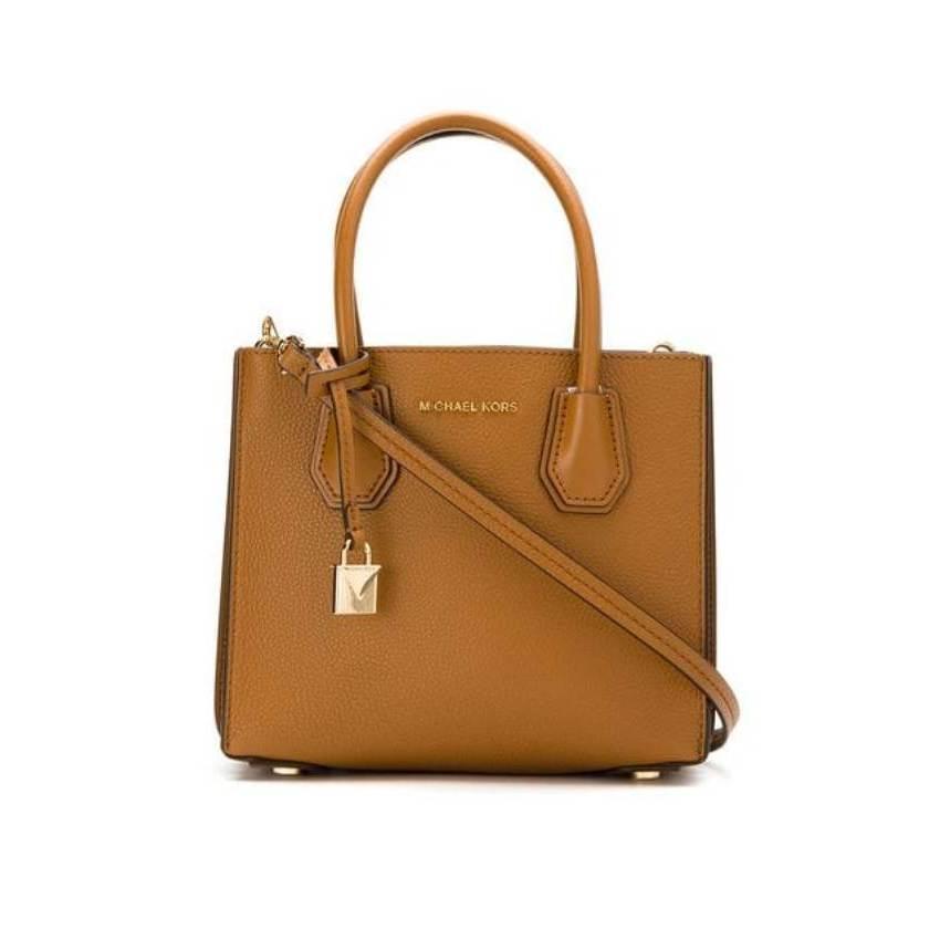 9dd92afae1cd Michael Kors MK farfetch brown Leather Crossbody Handbag Style  30F8GM9M2T-203