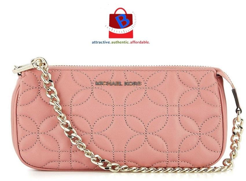 ce541e06474 Michael Kors Medium Chain Leather Pouchette 32H8GF9C6T-187
