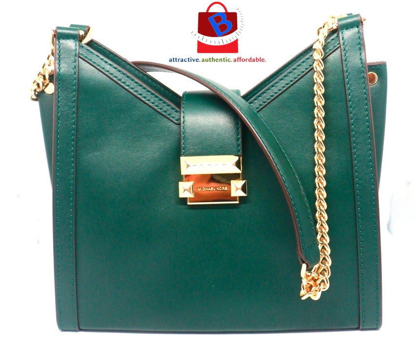 Michael Kors Whitney Small Leather Shoulder Bag - Green 30H8GWHE0L-305