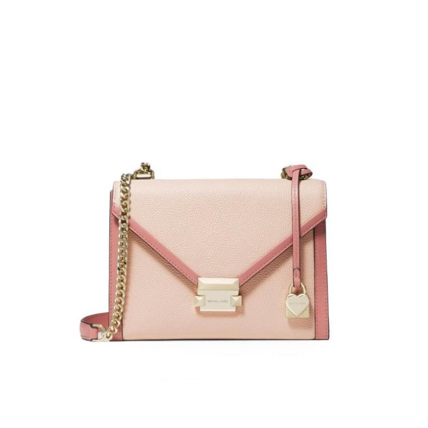 dd98ff254514 Michael Kors Whitney Large Bicolor Convertible Shoulder - Soft Pink Multi  30H8TWHL3O-612