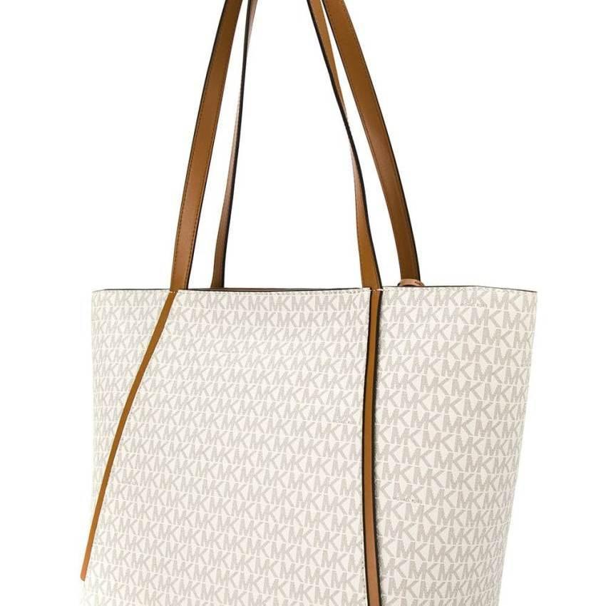 6f27718470eb Michael Kors Whitney Ladies Large Logo Twill Tote Handbag 30S8GN1T3B-150