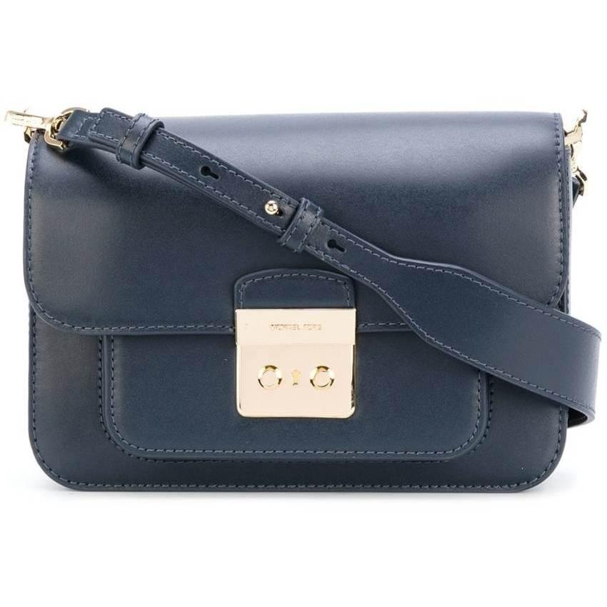 Michael Kors Sloan Editor Leather Shoulder Bag - Midnight Navy 30T7GS9L3L-414