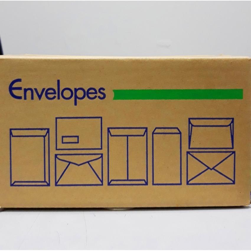 """White / Brown ENVELOPE NON-WINDOW Size: 4.5"""" X 9.5"""""""