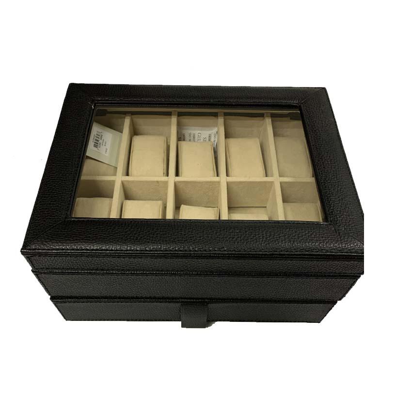 Fossil Men's Ten-Piece Watch Box Black MLG0642001