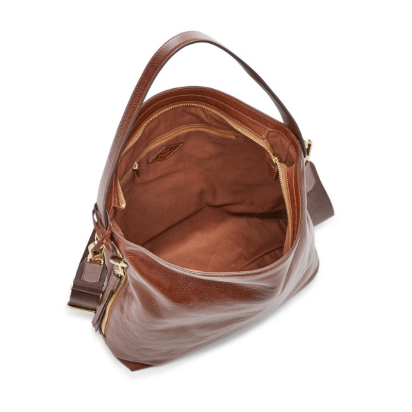 Fossil Women's Maya Large Hobo Brown ZB6980200
