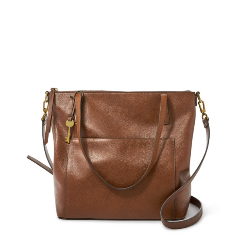 Fossil Women's Evelyn Medium Tote Brown ZB7722200