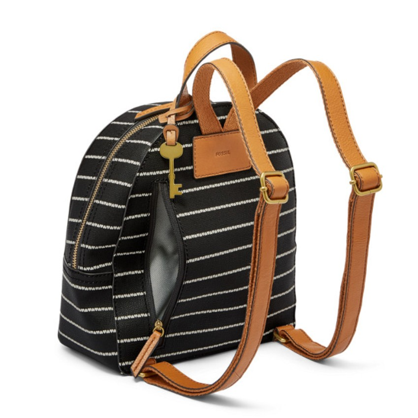 Fossil Women's Megan backpack Black/White ZB7724005