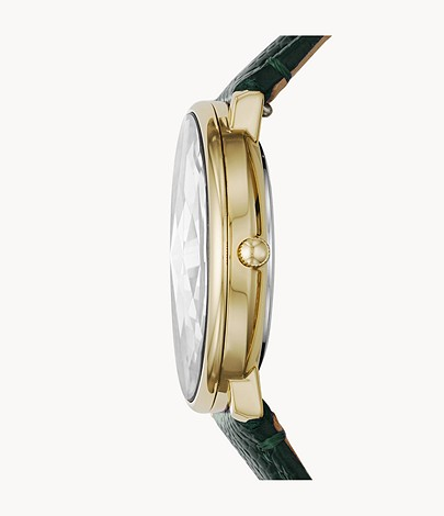 Fossil ES4730 Prismatic Galaxy Three-Hand Green Leather Watch