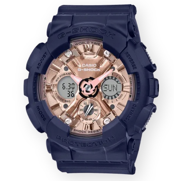 Casio G-Shock S Series GMA-S120MF-2A2DR Watch Navy Blue GMA-S120MF / GMA-S120MF-2A2 / GMA-S120MF-2A / 120