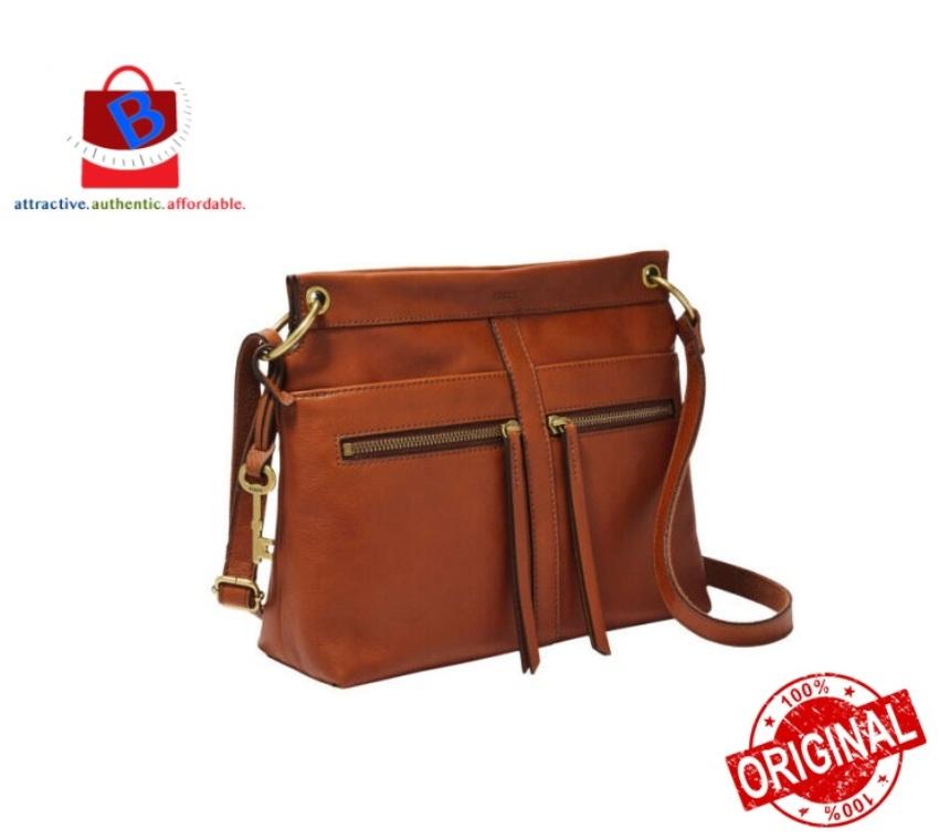 Fossil Women\'s Caitlyn Leather Crossbody Handbag Brown ZB7968213