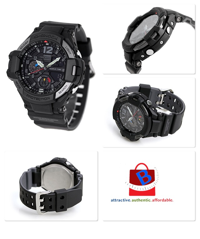 Casio G-Shock GA-1100-1A1DR Gravitymaster Men Digital Analog Watch GA-1100-1A1D / GA-1100-1A1 / GA-1100-1A / GA-1100