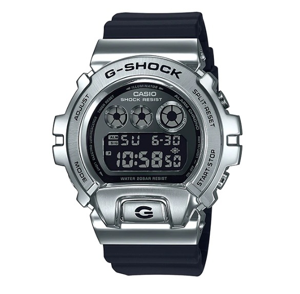 Casio G-Shock GM-6900-1DR Standard Digital Metal-Covered Bezel Watch GM-6900-1D / GM-6900-1 / DM-6900