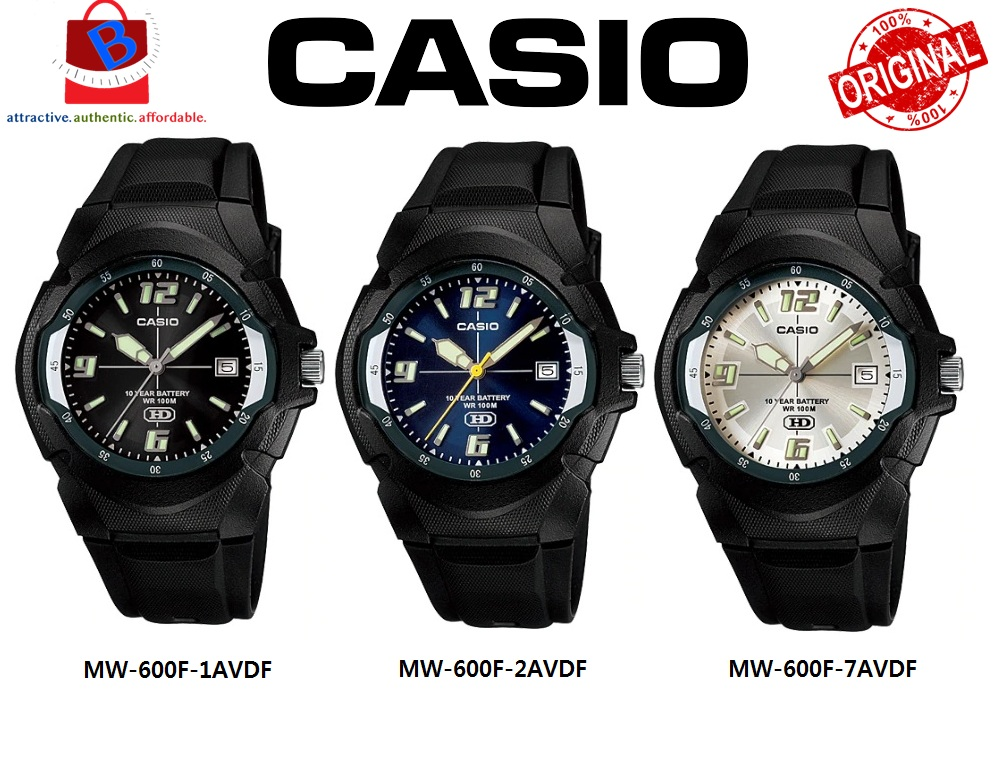 Casio MW-600F Series Original & Genuine Watch MW-600 / MW600