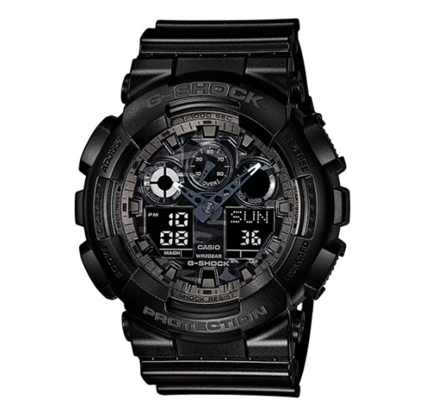 Casio G-Shock GA-100CF-1ADR Special Color Models Watch GA-100CF-1AD / GA-100CF-1A / GA-100CF-1 / GA-100CF
