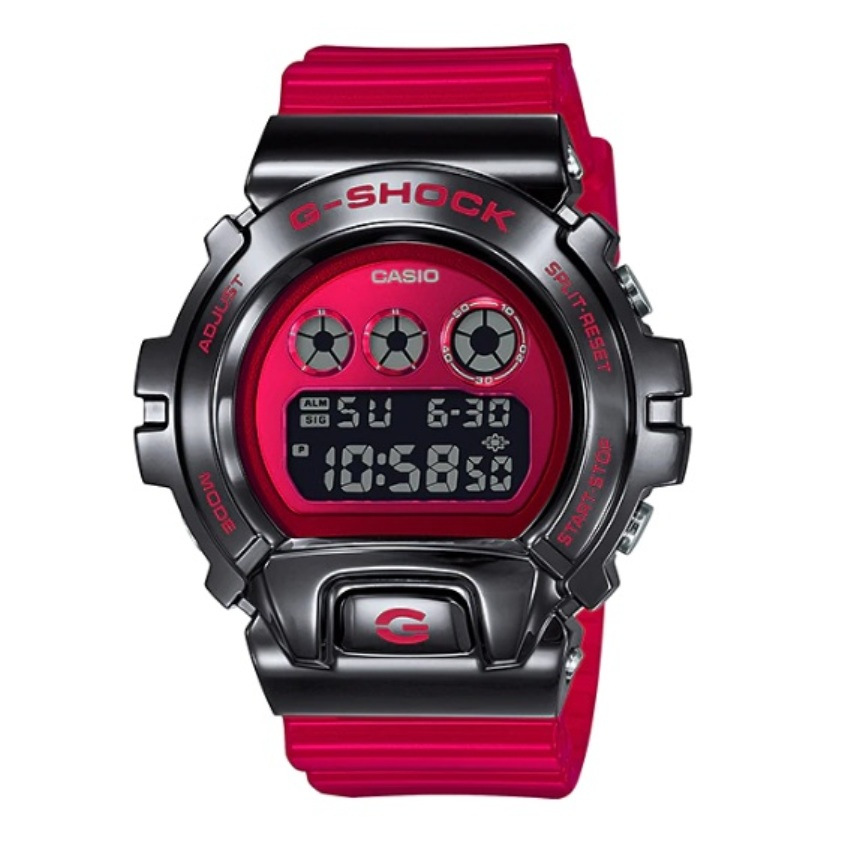 Casio G-Shock GM-6900B-4DR Stainless Steel Bezel Digital Watch GM6900B / GM-6900B / GM-6900B-4 / GM-6900B-4D