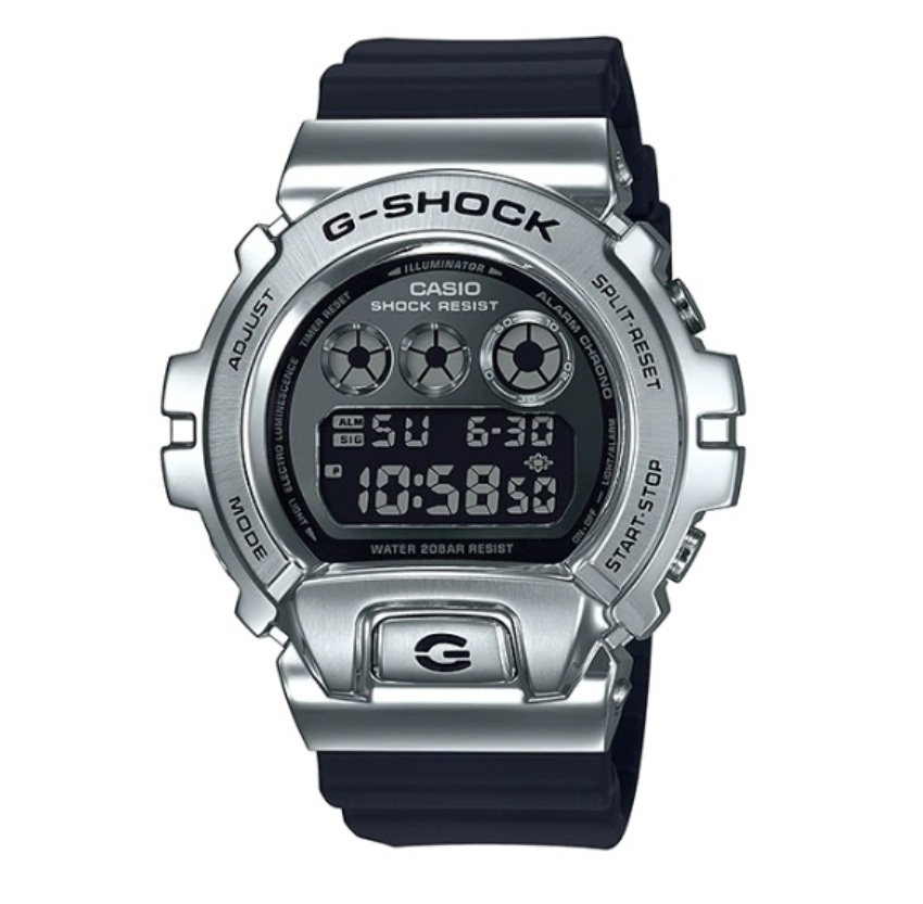 (EURO SET) Casio G-Shock GM-6900-1ER Standard Digital Metal-Covered Bezel Watch GM-6900-1E / GM-6900-1 / GM6900