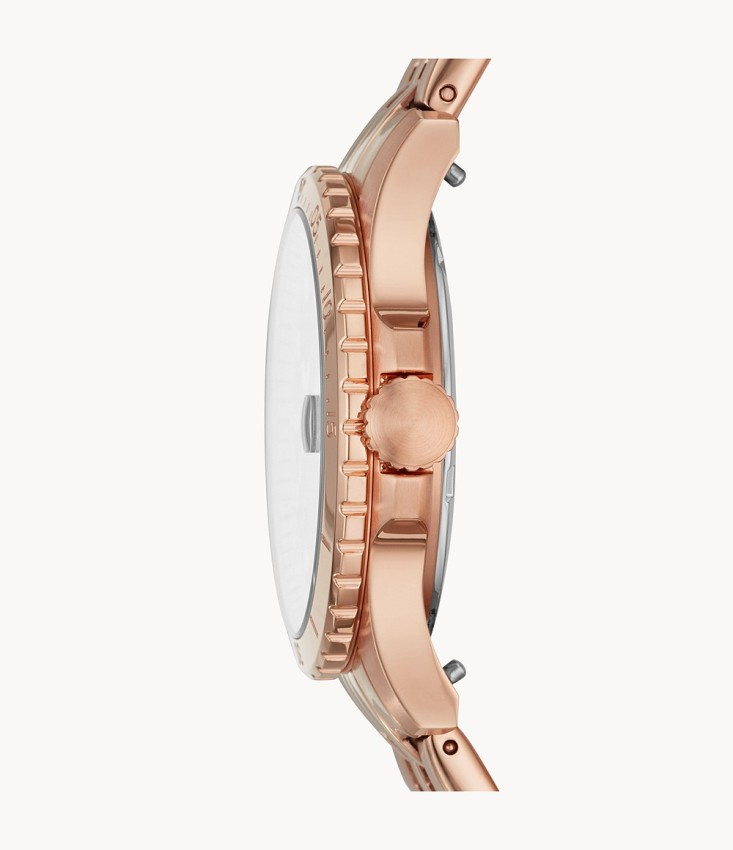 Fossil Women's ES4748 Three-Hand Date Rose Gold-Tone Stainless Steel Watch