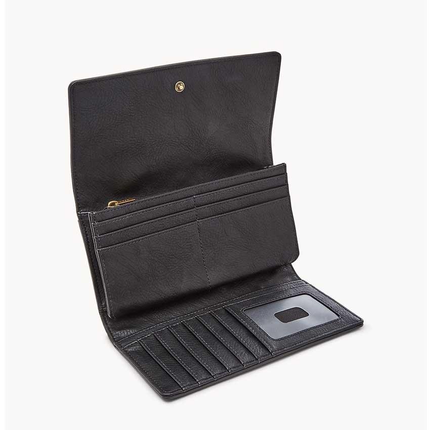 Fossil women's SL7833001 Logan RFID Flap Clutch
